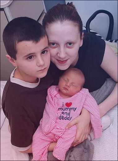 Alfie Patten with His Kid' Mother