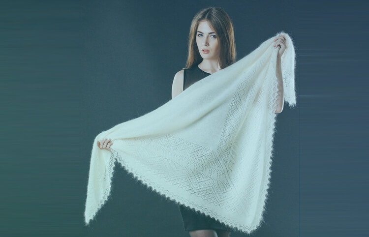 Orenburg shawls and lace scarves from Russia