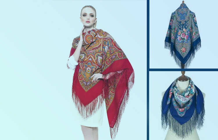 Russian wool shawls and headscarves