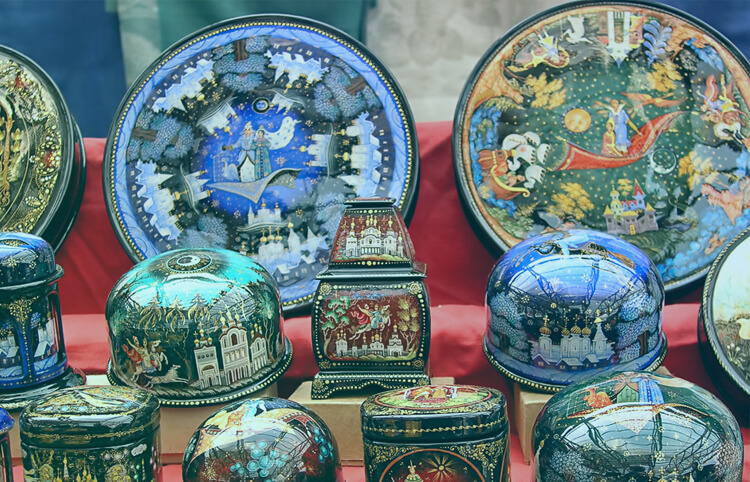 Signature Russian Lacquer Boxes